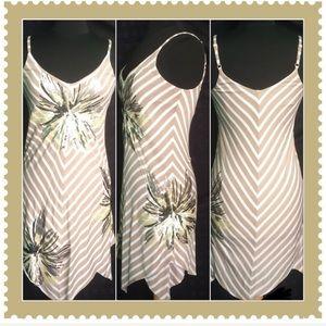 Kerchief Hemline Sequin Embellished Size Medium